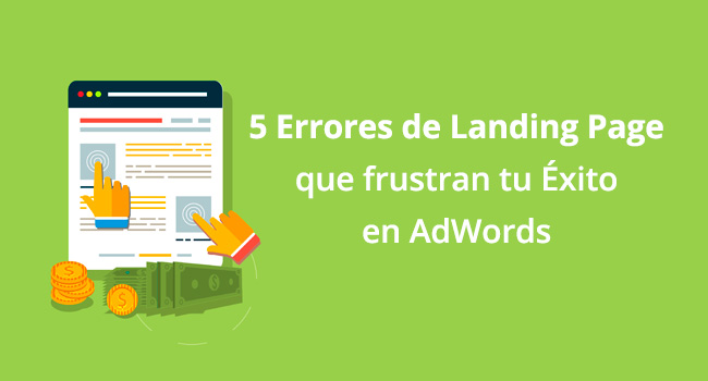 landing page adwords