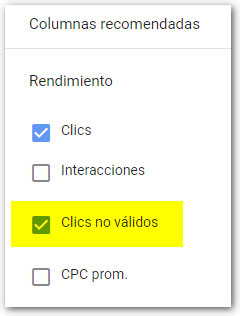 clicks no validos google ads