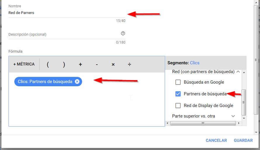 columnas personalizadas googl ads