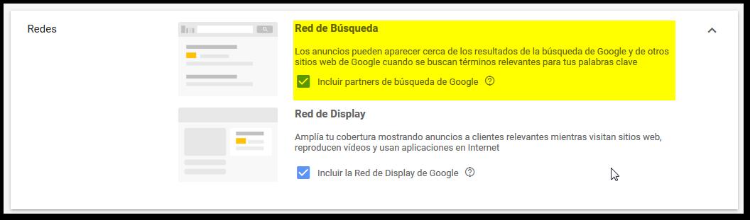red de busqueda google ads