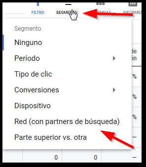 segmento google ads