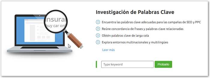investigacion palabras clave