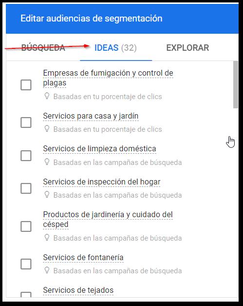 ideas segmentacion google ads