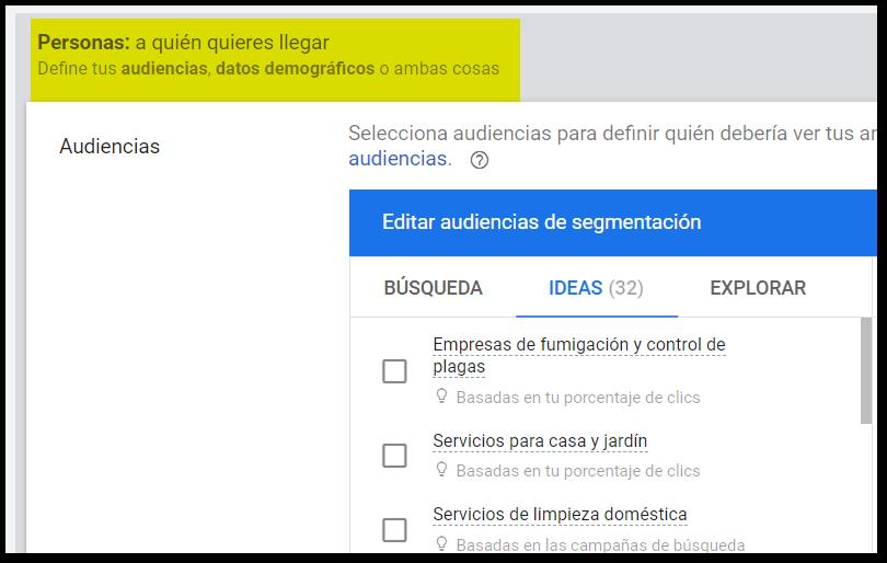 segmentacion audiencias google ads