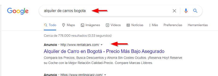 red busqueda google